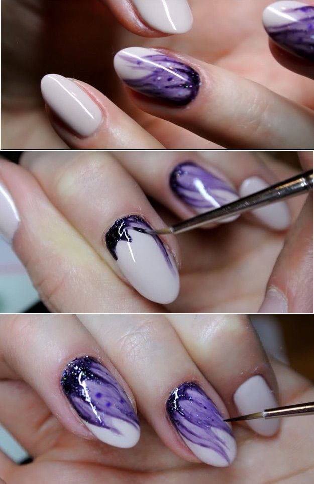 Super Easy Nail Art Ideas for Beginners – Hybrydowe Blur nails easy nailart Neonail – Simple Step By Step DIY Tutorials And Pictures For Nailart. Ideas For Every Style, All Hair Colors, Sparkle, Valentines, And other Awesome Products To Make…