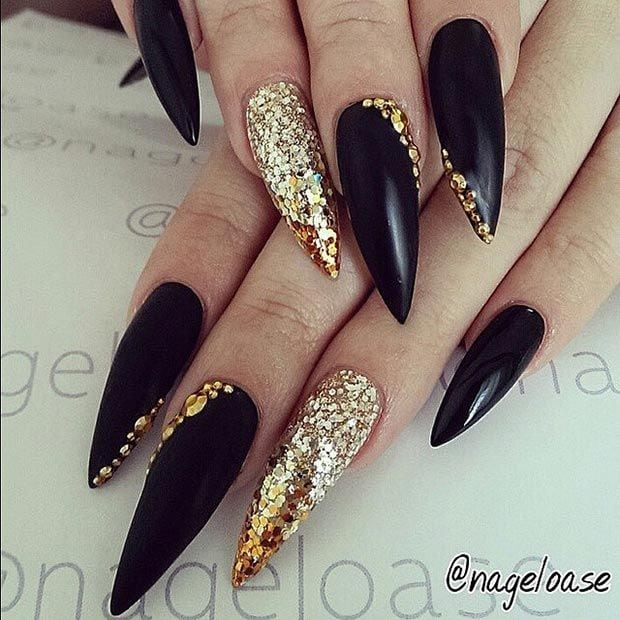 52 Incredible Stiletto Nails You Would Love to Have….  Bhavna  Beauty Source by lilithbelladonn   …
