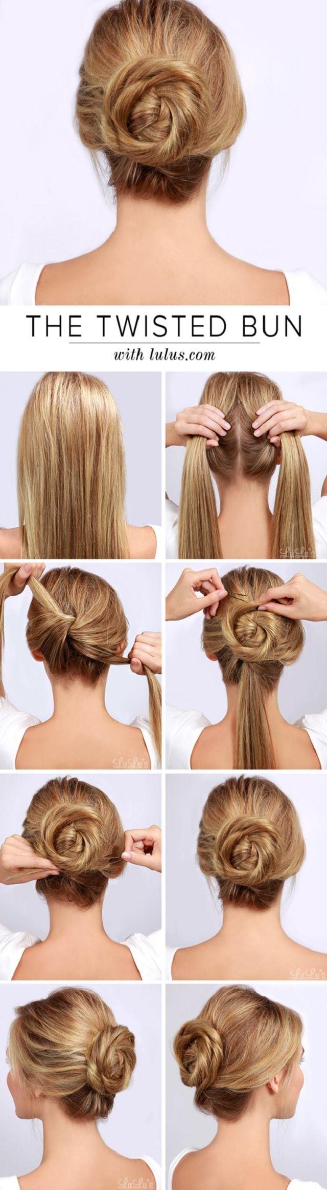 Twisted Bun Hair Tutorial | 12 Best Beauty Tutorials for Fall 2014 www.jexshop.com/ Source by margrietje01   …