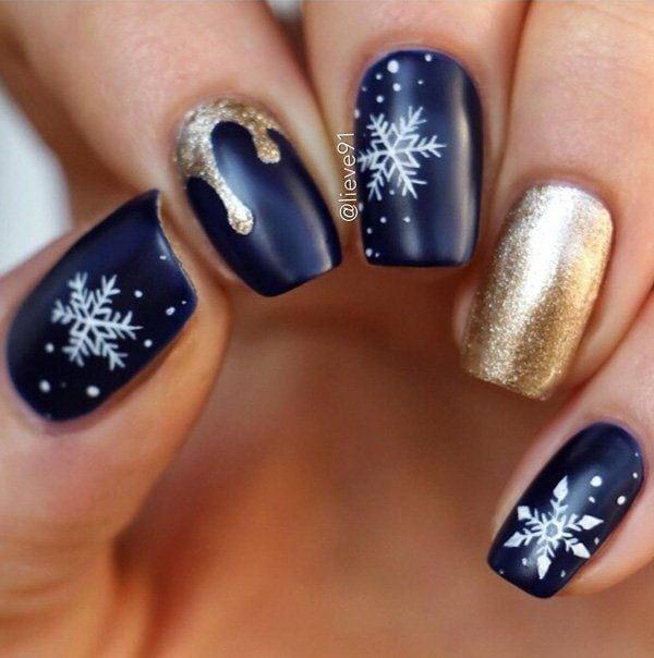 christmas-nail – 55 Joyful Christmas Nails Ideas Source by lindaveening   …
