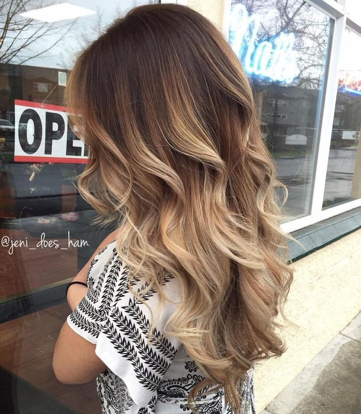 Brown Hair With Beige Balayage Source by Kleinbelletje   …