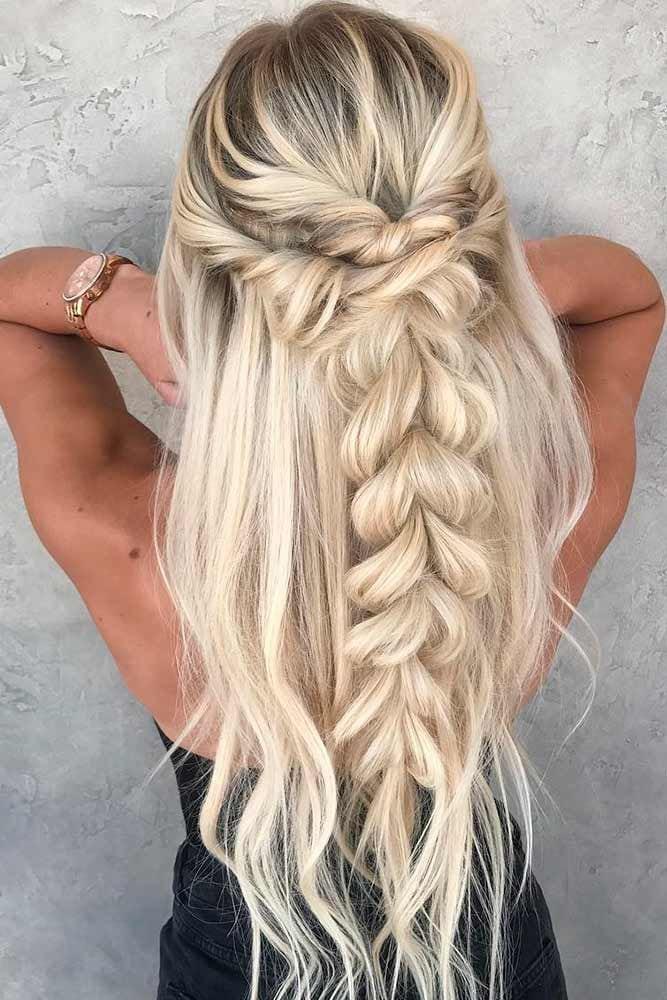 – Cute braid with beach hair – Source by floortjevanduren   …