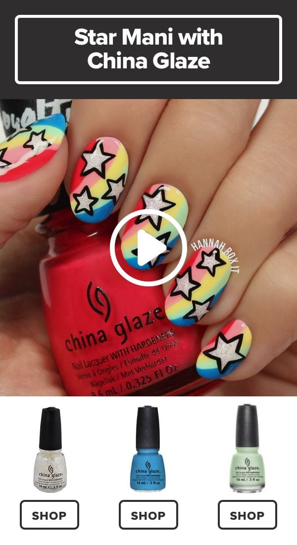 Make Your Nails the Star with This Cool Manicure #darbysmart #beauty #nailpolish #nailart #naildiy #naildesign #nailtutorial