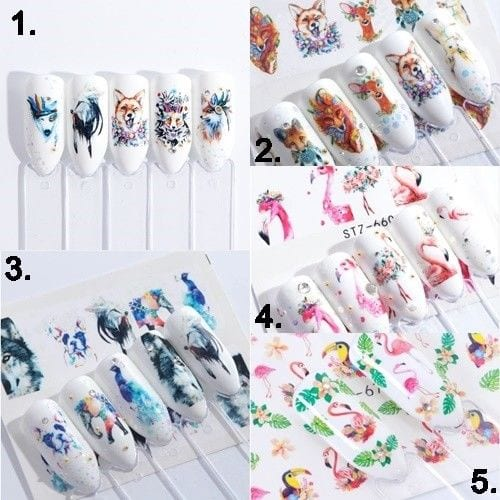 Nail Art Sticker – Flamingo Autocollant Ongles Wassertransfer #N18