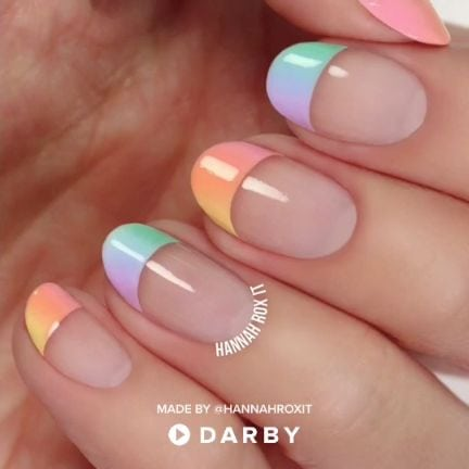 Pastel Ombre Nail Design Video Tutorial #darbysmart #beautytips #beautyhacks #beautytricks #beautytutorial #beauty #nailpolish #nailart #naildiy #naildesign #nailtutorial
