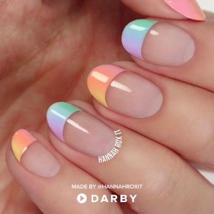 Pastel Ombre Nail Tutorial #nailart #naildiy #spring #darbysmart Source by IkbenookLiza   …
