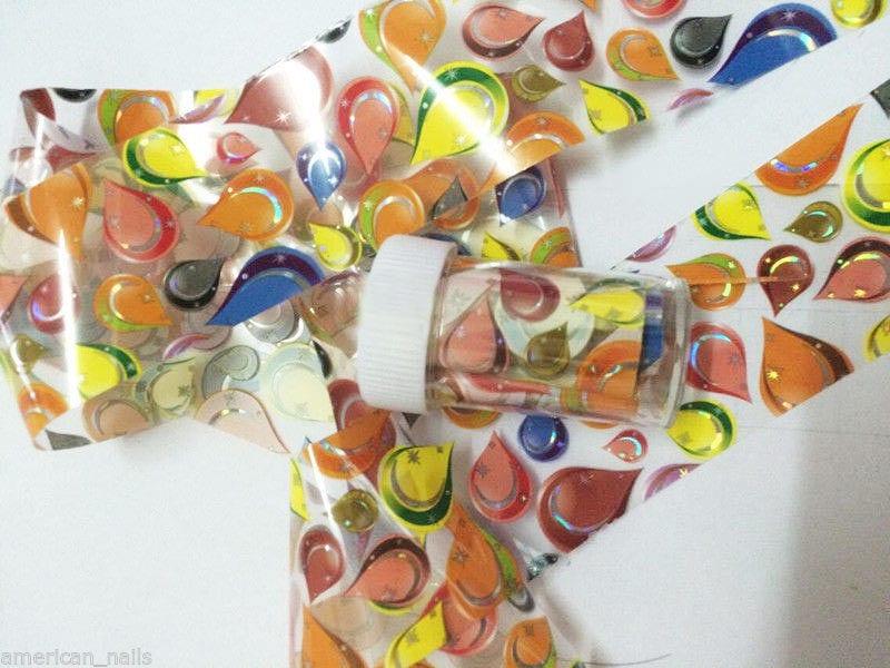 ROULEAU Foils Nail Art Foil ongle Gouttes Multicolor sur Transparent 4cmx100cm   Price : 1.99  Ends on :   Voir sur eBay   …
