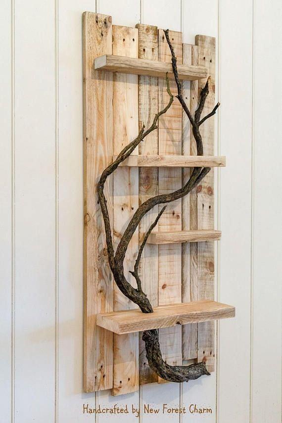 Rustieke Home Decor grote Wall Art teruggewonnen hout Pallet Source by myloveeex   …