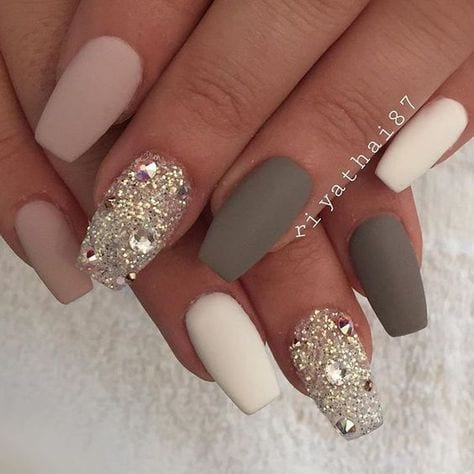 30 Beautiful Diamond Nail Art Designs | Diamond Nails Inspiration