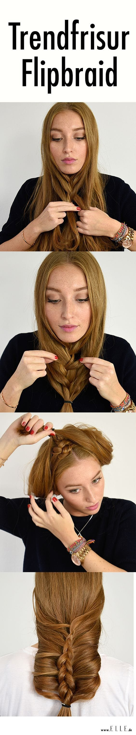 Dieser Hairstyle wird derzeit im Internet mega gehyped: Wir erklären, wie du den Flip Braid ganz einfach in 5 Schritten nachmachen kannst ► auf ELLE.de! Source by PCVroegop   …
