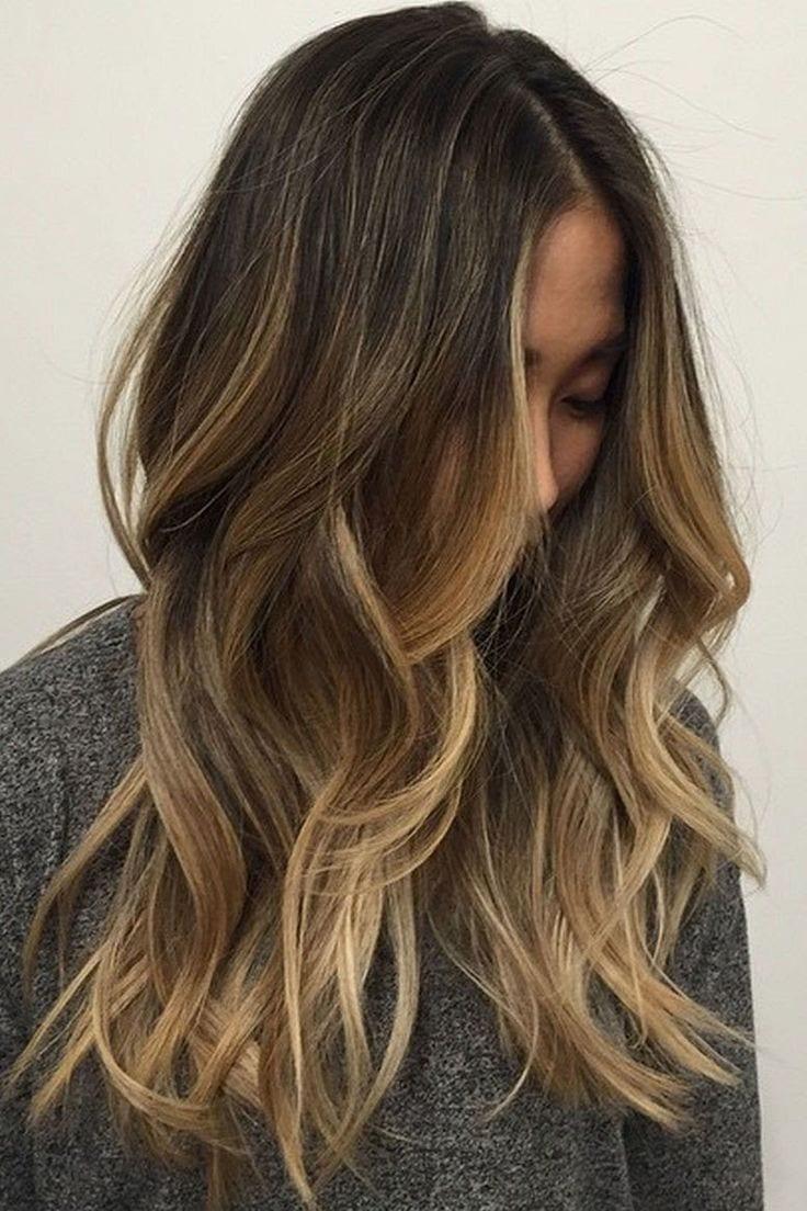 Dark Brown Hair with Caramel Blonde Highlights Source by chloelatoel   …