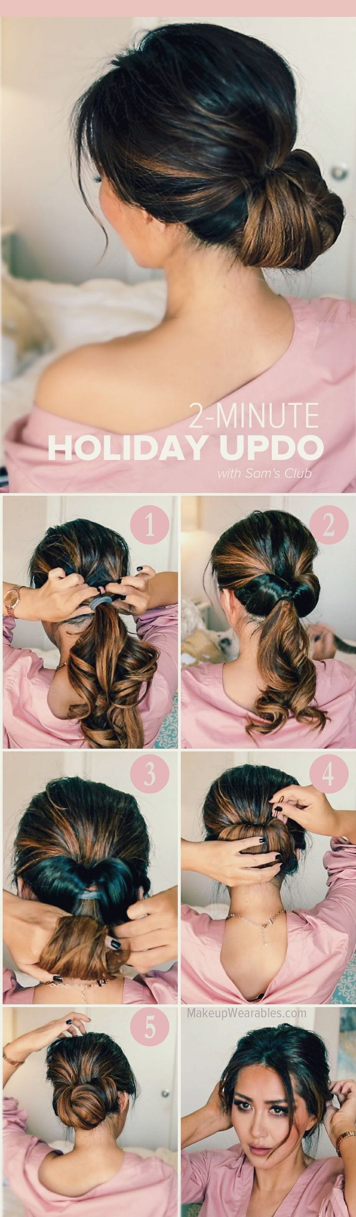 HOW TO: 2-MINUTE ELEGANT HOLIDAY UPDOS Source by Sheilavwaes   …