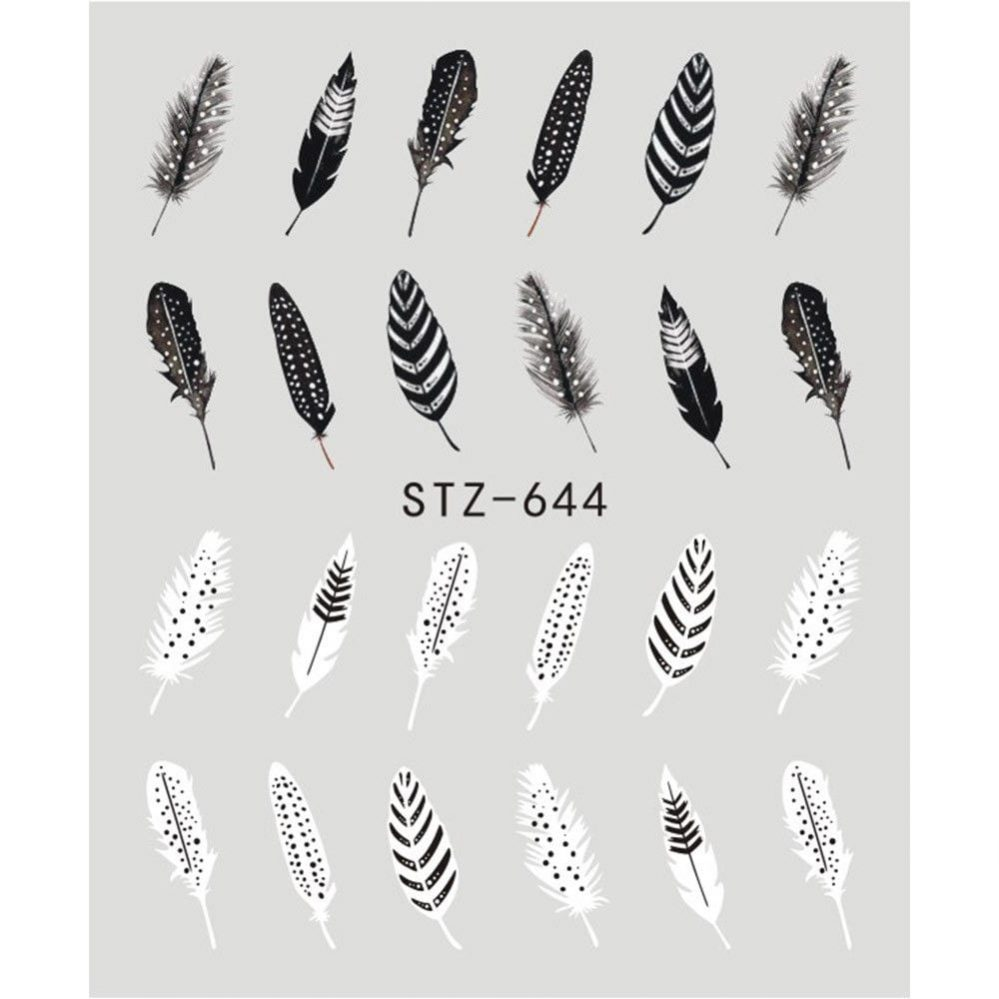 ❤️NOUVEAU NAIL ART STICKERS PLUMES WATER DECALS BIJOUX ONGLES  MANUCURE