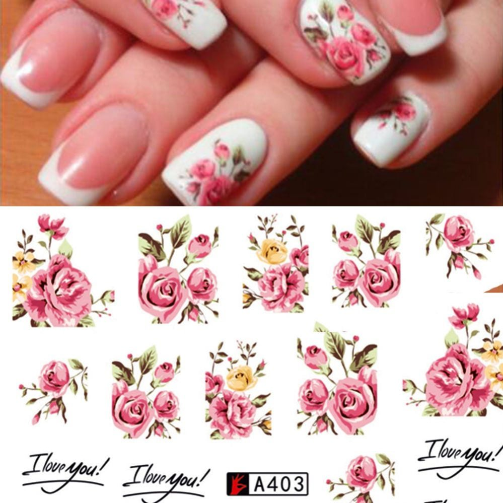 ❤️NOUVEAU STICKERS ROSES BIJOUX ONGLES WATER DECALS MANUCURE NAIL ART   Price : 1.95  Ends on :   Voir sur eBay   …