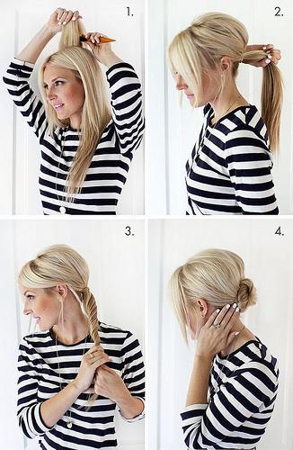 Idée Coiffure :    Description   idée pour une coiffure facile et rapide avec chignon torsadé bas de nuque et un peu de volume sur le haut de la tête      madame.tn/beaute/coiffure/idee-coiffure-idee-pour-une-coi…  Posté par madame_shopping  sur…