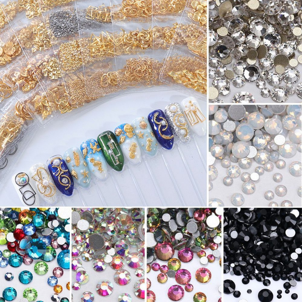 3D Mixte Ongles Briller Cristaux Dos Plat Strass Gems Nail Art Manicure Decor  Price : 1.00  Ends on :   Voir sur eBay   …