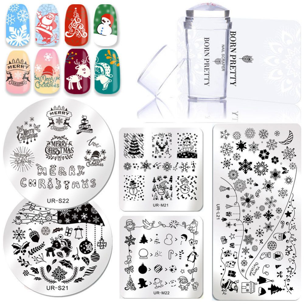 3pcs/kit Plaque de Stamping Nail Art Tampon Raclette Ongle Set for Vernis Stamp