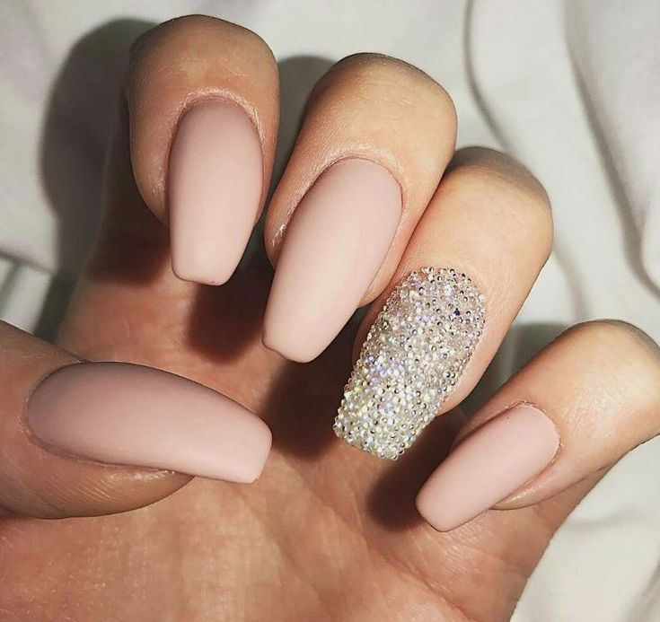 40 Most Amazing And Trendy Nude Nails Design (acrylic And Matte Nude Nails) You May Love – Nail Idea 07- ♡♥♡    ♡ #nails ♡♥ #acrylic ♡ #acrylicnails ♡♥ #nailsdesign ♡ #mattenails ♡♥ #matte ♡ #nailsart ♡♥ #nudenails…