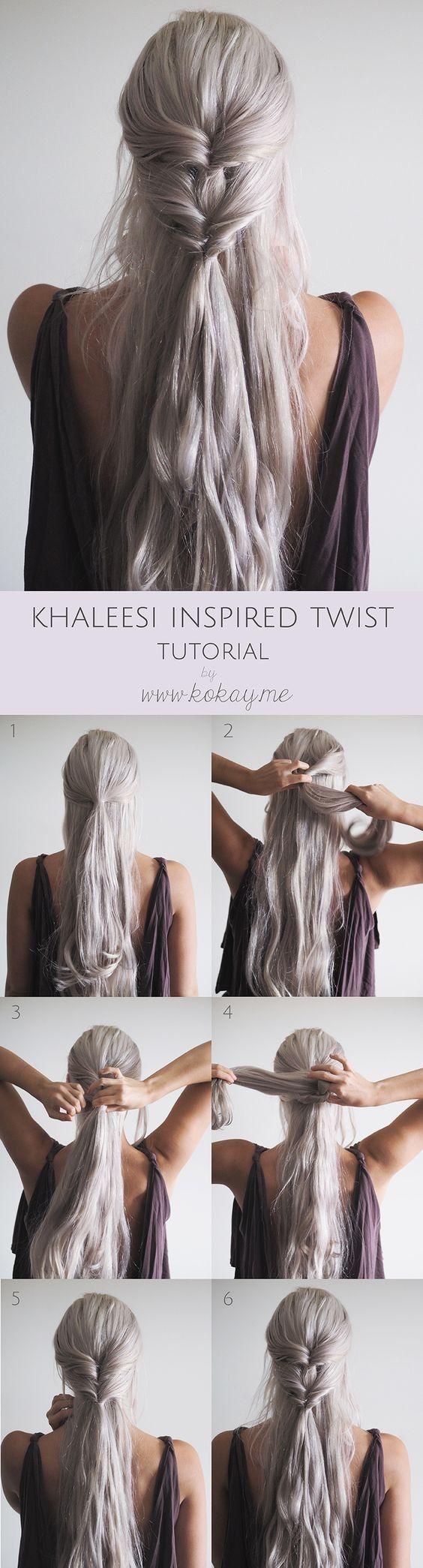 Popular on Pinterest: 'Game of Thrones' Khaleesi-Inspired Braids Source by SuperZhiDie   …