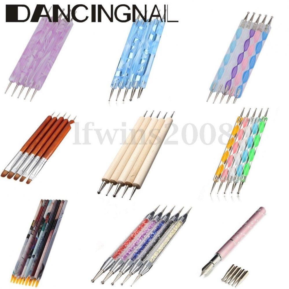Set/5pcs Pinceaux Dotting Pen Tool Liner Strass Bijoux Ongle Stylo Bois Nail Art  Price : 1.72  Ends on :   Voir sur eBay   …