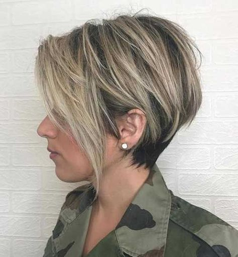 15 Must-See Straight Hairstyles for Short Hair: #1. Straight Long Pixie Hairstyle Source by ilangens   …