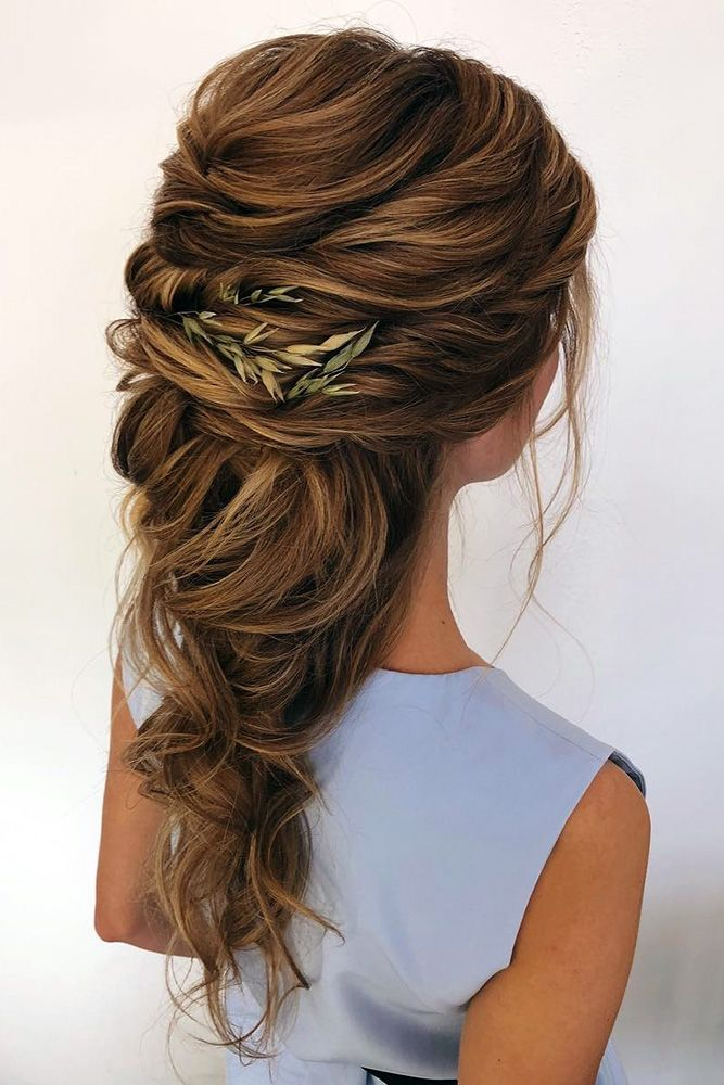 wedding hair half up greek swept cascading on long hair oksana_sergeeva_stilist via instagram Source by marit2901   …