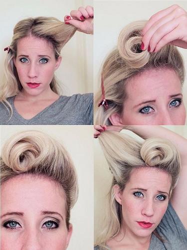Idée Coiffure :    Description   un tuto coiffure rockabilly facile à réaliser avec bandana et bobby pins, joli chignon rétro de style pin up      madame.tn/beaute/coiffure/idee-coiffure-un-tuto-coiffure-…  Posté par madame_shopping  sur 2018-01-07 22:35:56    …