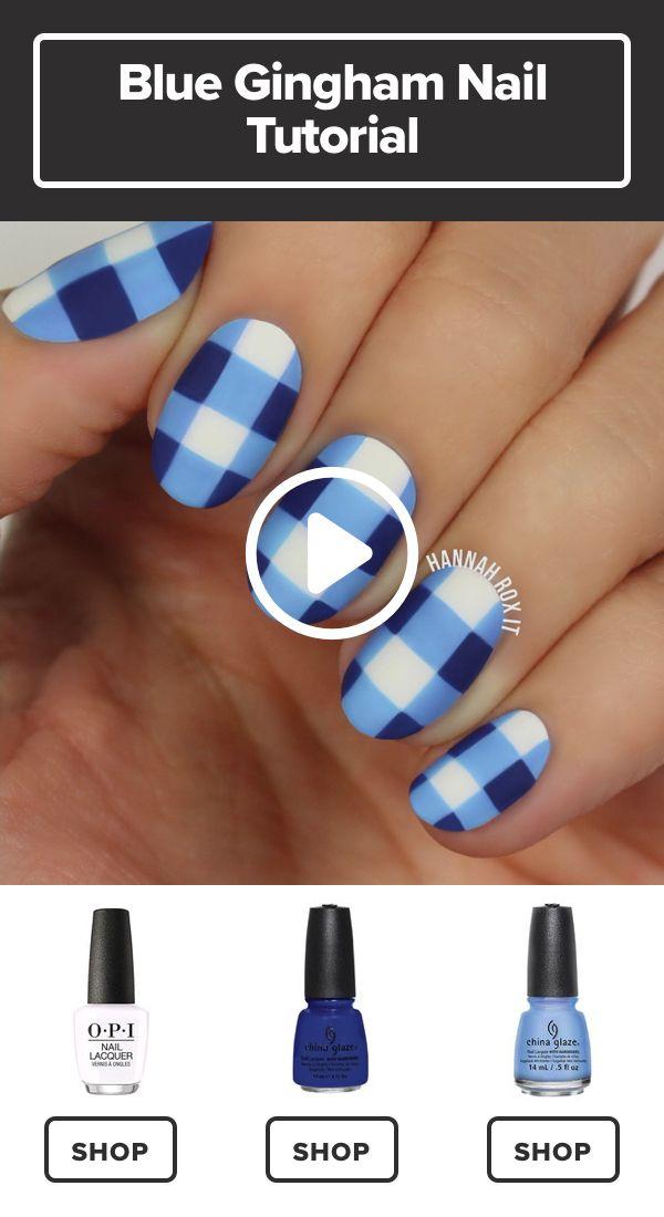 How to Get a Blue Gingham Nail Manicure #darbysmart #beauty #nailpolish #nailart #naildiy #naildesign #nailtutorial Source by tessadool   …