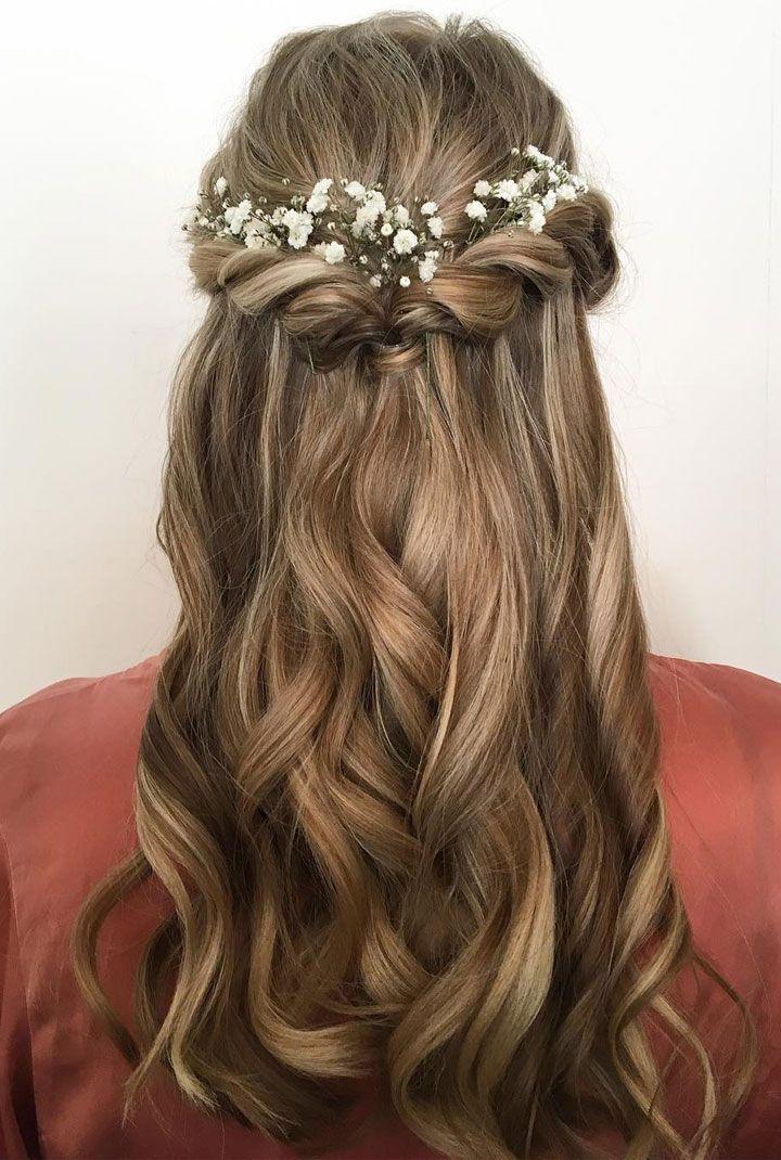 Ideia de penteado meio preso para noivinhas! postorder.tumblr. Source by delangejinte   …