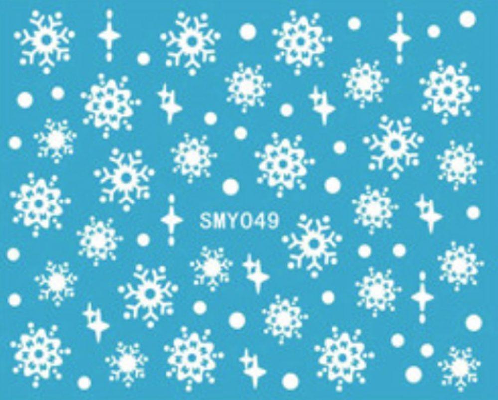 Nailart stickers autocollants ongles scrapbooking: flocons blancs design  Price : 2.49  Ends on :   Voir sur eBay   …