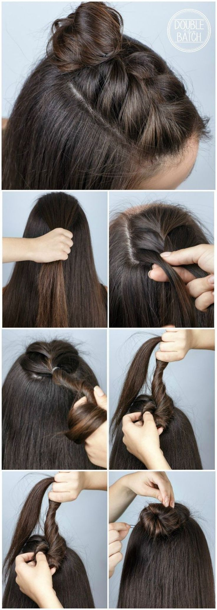 ❤️ Tutorial ❤️  Mohawk braid into top knot half-updo for medium to long hair Source by Sacha6090   …