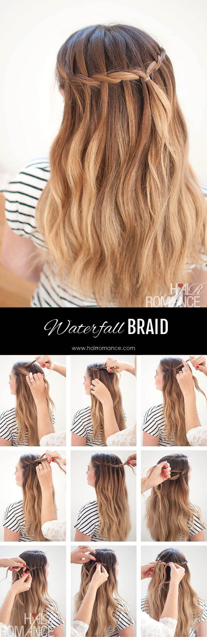 Waterfall Mermaid Braid Tutorial for Long Hair – Hair Romance