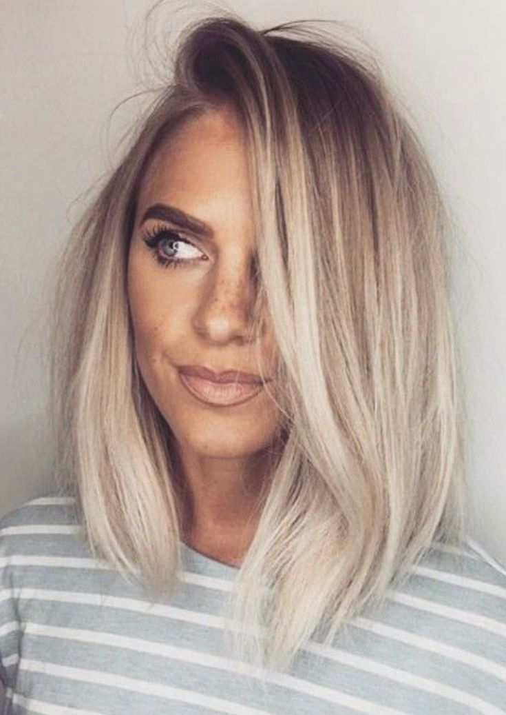 balayage, blonde hair, curls, girl, grey hair, hair, long hair, ombre, short hair #balayage #haircolor #ashhighlights