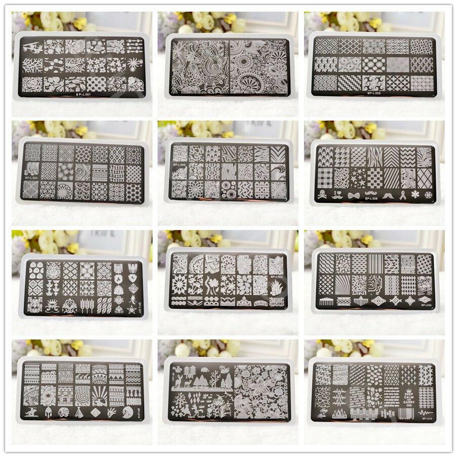 BORN PRETTY Ongles Stamping Pochoir Plaque Modèle Nail Art Ongle Plate Manucure  Price : 1.99  Ends on :   Voir sur eBay   …