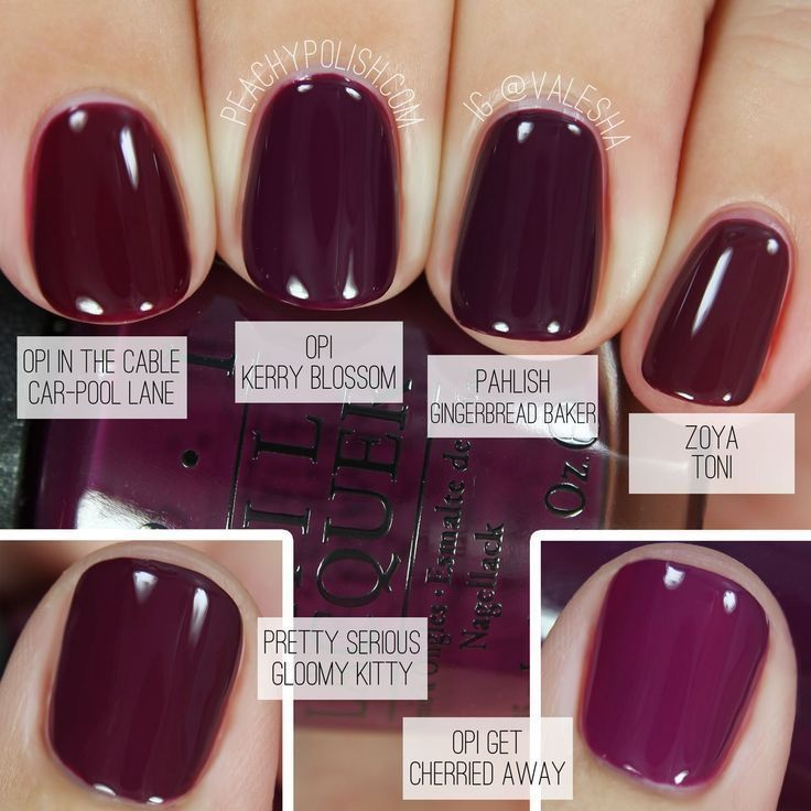 I love dark colors on nails — so classy and timeless, and hides ALL the flaws!