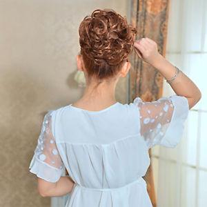 LC_ EG_Femmes bouclé à Clip Fiancée coiffure cheveux chignon hairpieces cheveux  Prix : 2.70  Termine le : 2019-02-28 23:11:56  Vu sur eBay  …