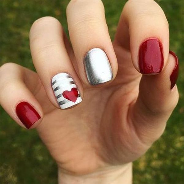 Easy Heart For Valentines Nails to Express Your Love – Page 13 – Chic Cuties Blog