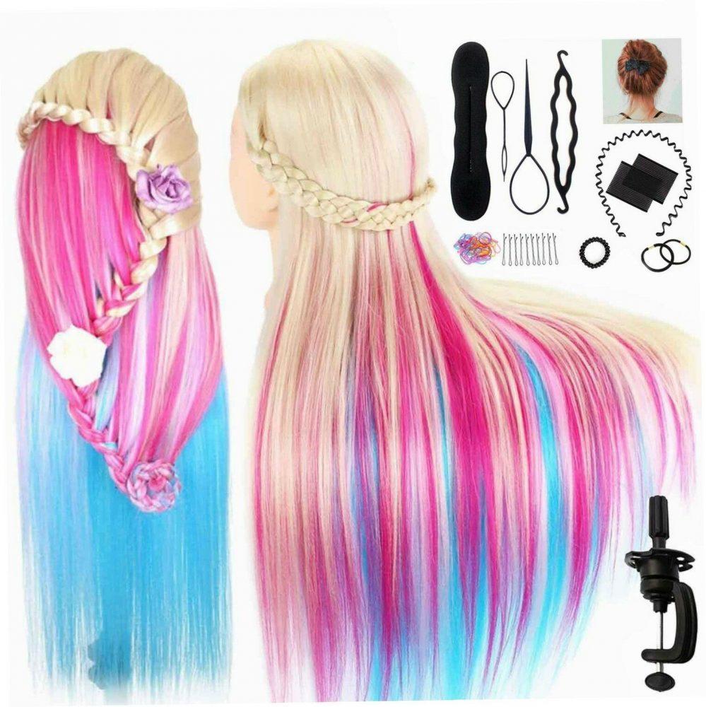 """TopDirect 29.5"""" Têtes d'exercice Cheveux colorés Tête à Coiffer Coiffure…  Prix : 35.51  Termine le : 2019-03-16 16:29:15  Vu sur eBay  …"""