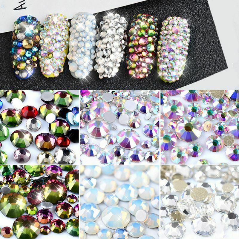 300x Mélange AB Strass Cristal Glitter Ongle Nail Art Décoration 3D Tips Bijoux  Price : 1.15  Ends on :   Voir sur eBay   …
