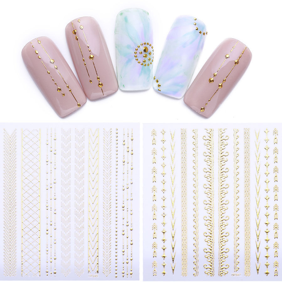 3D ongles Stickers Geometry Moon Star rayures Wave Line nail art décoration  Price : 1.00  Ends on :   Voir sur eBay   …