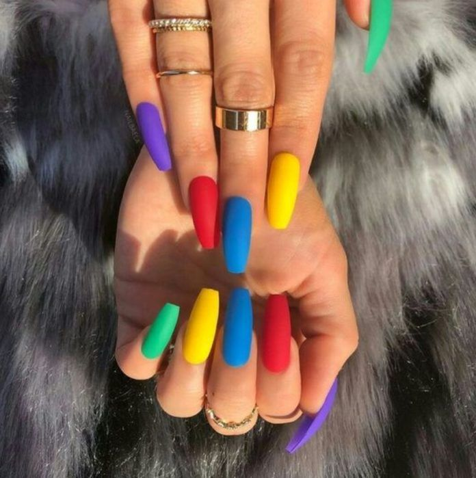 61 Most Stunning Light Colorful Nails Arts Include Acrylic Nails, Matte Nail for Spring – Diaror Diary – Page 9 ♡♥   ,  ! Diaror Diary ♥♡  #nails ♥ #nailsart ♥ #nailsdesign ♥ 