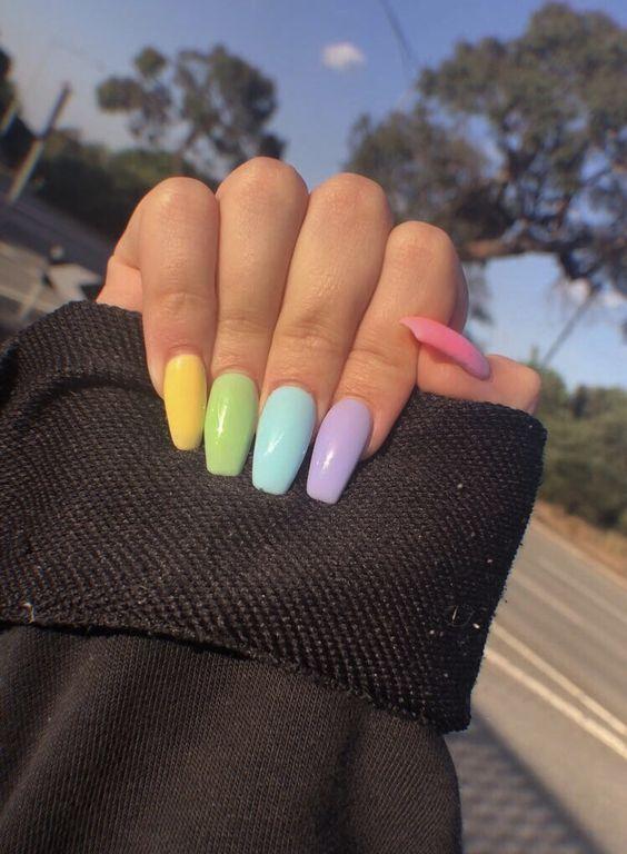 rainbow acrylic nails Source by sarahjenkinson7   …
