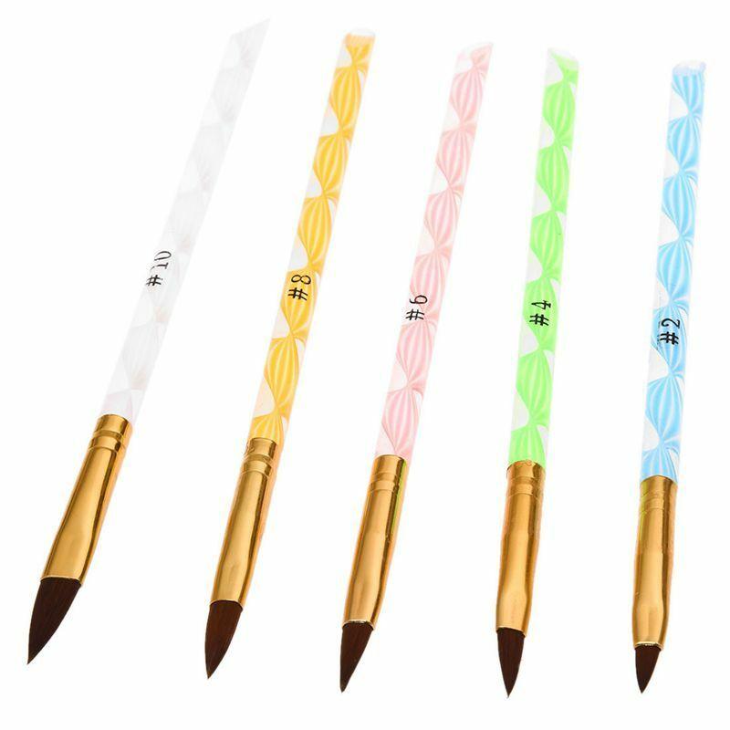 Brosse a ongles colore de gel UV en acrylique No.2/4/6/8/10 5 pieces par un p CR  Price : 1.75  Ends on :   Voir sur eBay   …