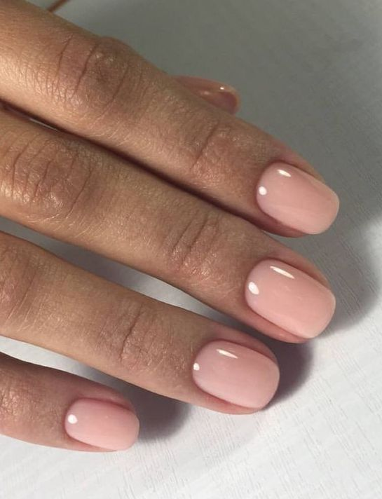 Light pink nail polish that looks very cute Source by healthbeautyspace   …