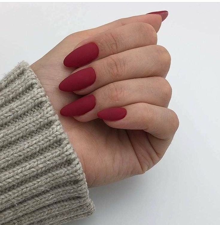 Winter Chic Matte Red Nails 29 – glamisse.com Source by laurencoker52   …