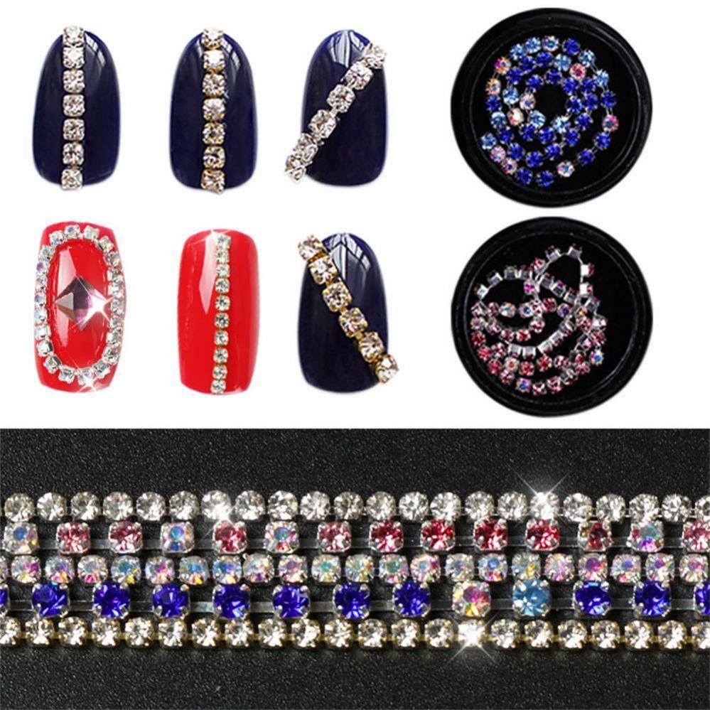 plate shining le métal ab strass manucure decor la chaîne des ongles 3d crystal  Price : 1.00  Ends on :   Voir sur eBay   …