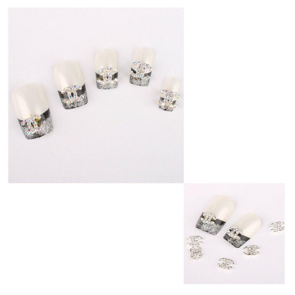 2X(10 pcs 3d alliage strass ongle d'art scintillement bricolage decoration R6O8)  Price : 1.60  Ends on :   Voir sur eBay   …