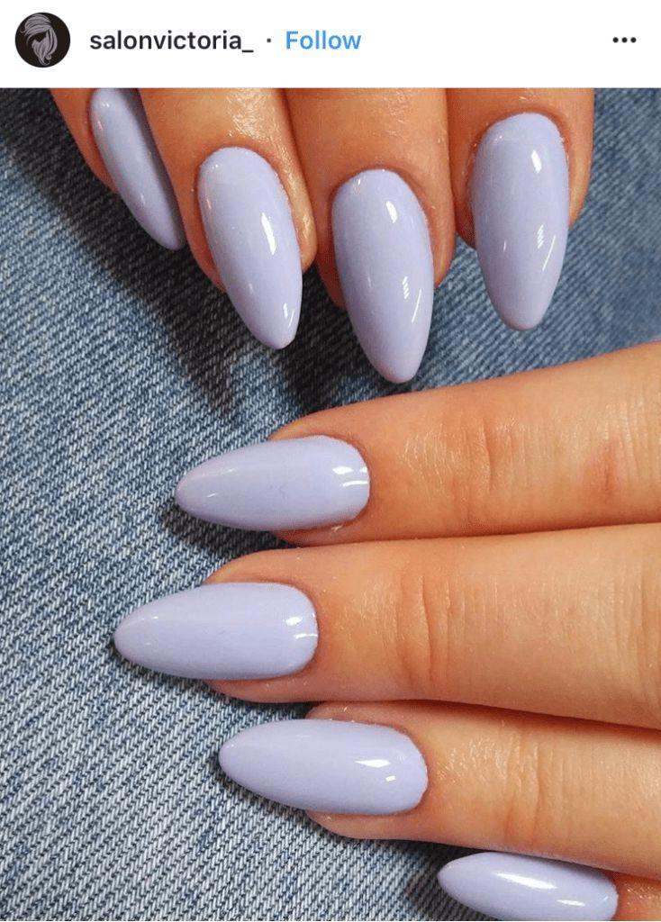 Pale lavender nail polish. Source by kirsten3982   …