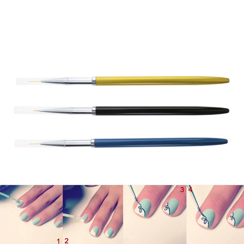 3pcs UV gel liner brosses acrylique stylo poignée métal manucure ongles art  Price : 5.18  Ends on :   Voir sur eBay   …