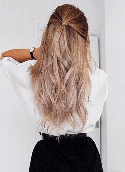 Seamless Hair Extensions Balayage Ombre Tape In Hair Color 10/12 Adhesive Remy #FullShine #Ombr #BalayageHairBlonde
